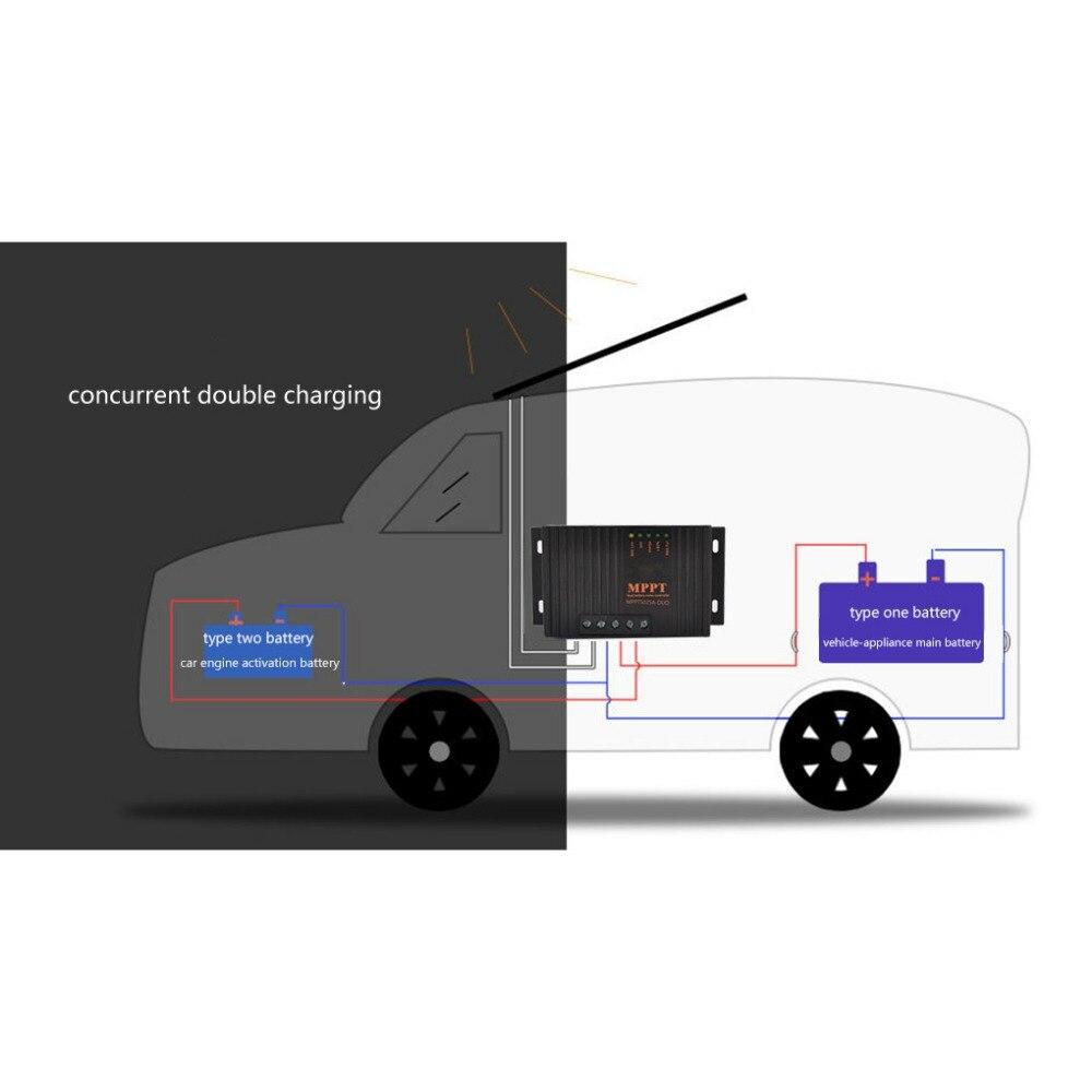 MPPT Contrôleur Solaire 20A Panneau Solaire Batterie Régulateur Compensation de Température de Charge Solaire Contrôleur 12 v Auto RV