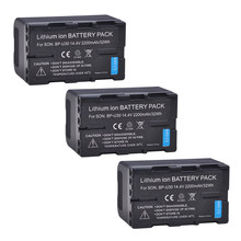 Batterie Li-ion BP-U30 BPU30 BP U30, 3 pièces, pour appareil photo Sony BP U30 U60 U90 XDCAM EX PMW 100 150 160 PMW EX1 EX3 F3 F3K 200