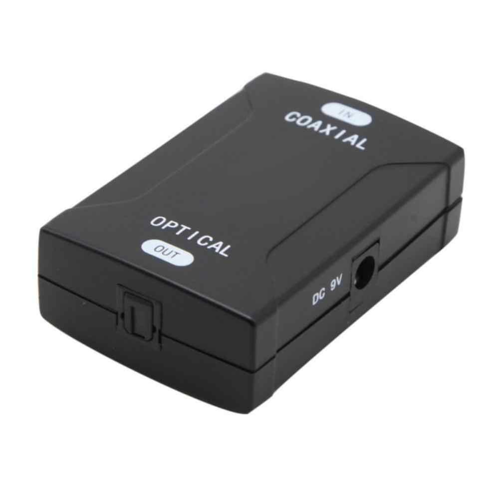 1 pc EUA Plug Coaxial RCA Coaxial para Óptico TOSlink SPDIF Sinal Digital De Sinal De Áudio Conversor Adaptador Para DVD tv televisão