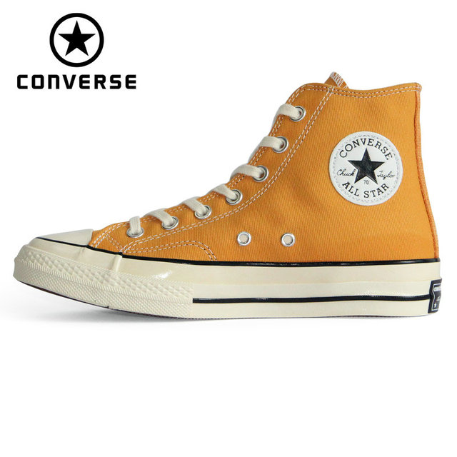 4be2a3cf9668 NEW Converse CHUCK 70 Retro version 1970S Original all star shoes unisex  sneakers yellow color Skateboarding Shoes 162054C-in Skateboarding from  Sports ...