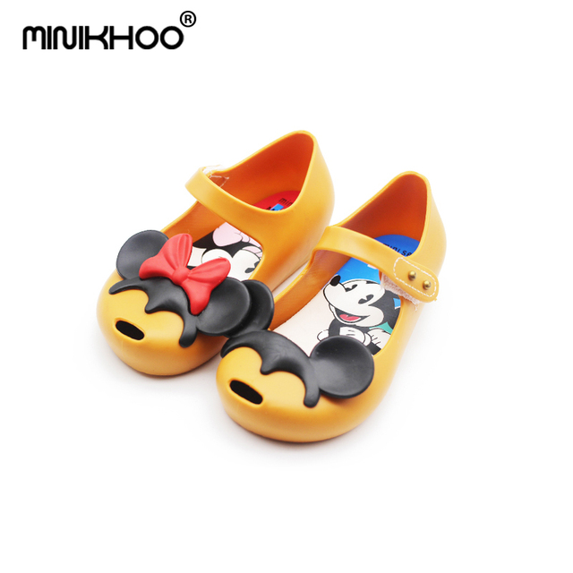 Mini Melissa Mickey Minnie Girl Jelly Sandals Cute Princess Sandals  Breathable Baby Sandals Girl Beach Shoes High Quality 5eaa0ab63