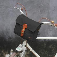 цена на Tourbon Outdoor Bicycle Handlebar Bag Front Tube Pack Pannier Shoulder Bags Vintage Messenger Bag Black Waxed Waterproof Canvas