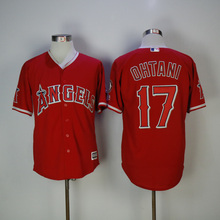 Men s Los Angeles Angels Shohei Ohtani Baseball Red Home Cool Base Player  Jersey(China) b183a84ce