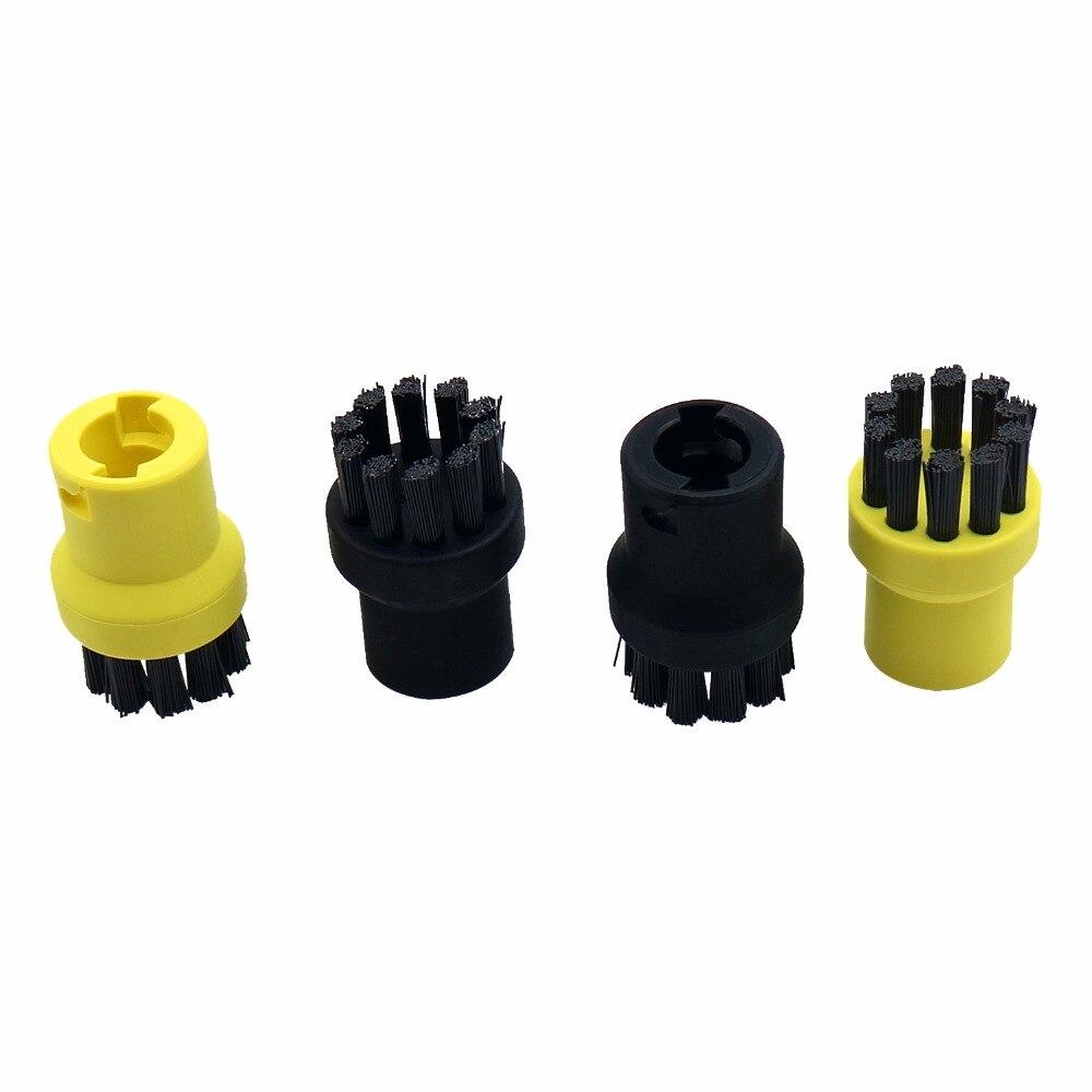 4pcs/lot Steam Cleaner Brushes Round Brush for Karcher SC952 SC1052 SC1122 SC1125 SC1402 SC1475 High-quality Free shipping
