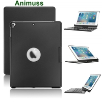 for iPad 6th Generation Case with Keyboard, 7 Colors Adjustment Backlit and Breathing Light Keyboard with 360 Degree Rotatab