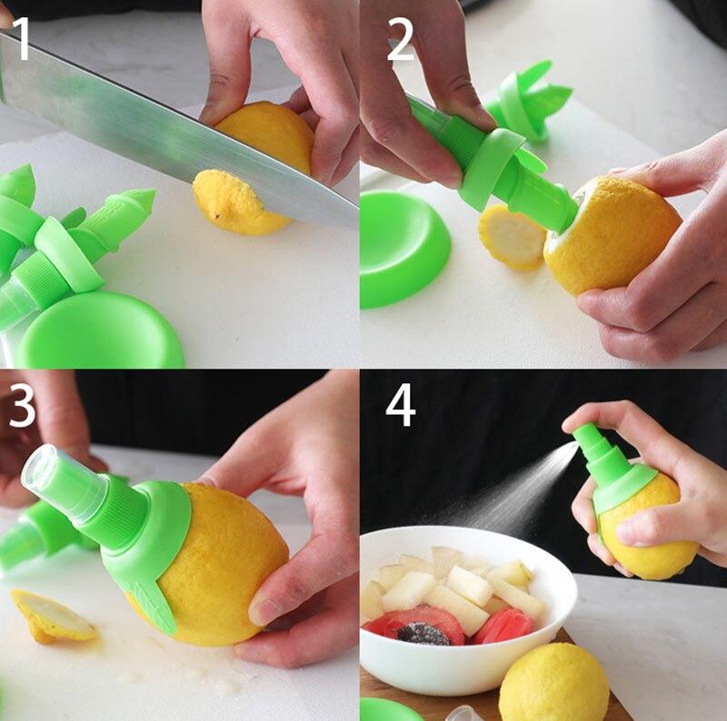 2Pcsset Home Kitchen Gadgets Lemon Orange Sprayer Fruit Juice Citrus Spray Cooking Tools Accessories Accesorios De Cocina6