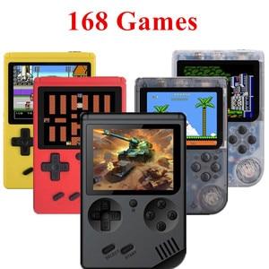 Image 1 - Coolbaby רטרו נייד מיני כף יד משחק נגן קונסולת 8 Bit 3 אינץ צבע LCD ילדים צבע משחק נגן מובנה 168 משחקי וידאו