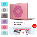 Mandala Round Ornament Pattern Print Shell Cover For Mac Book Pro 13.3 Case for Laptop Macbook Air Pro 11 12 13 15 inch Case