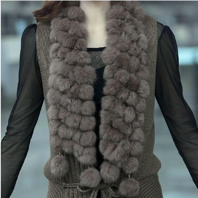 camel Chaud Haute Black Color D'hiver Veste Manteaux Manteau De Hair Fourrures Gilets Luxe Femmes Fourrure Mode Gilet grey Qualité Lapin p0pCqwa
