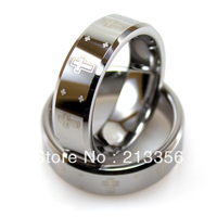 Free Shipping Wholesales Cheap Price Promotion Sales USA Hot Selling Men S Promise Tungsten Beveled Ring