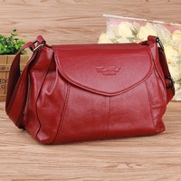 High Quality Women Real Genuine Leather Messenger Bags Famous Brand Ladies Cross Body Bags Designer Cowhide