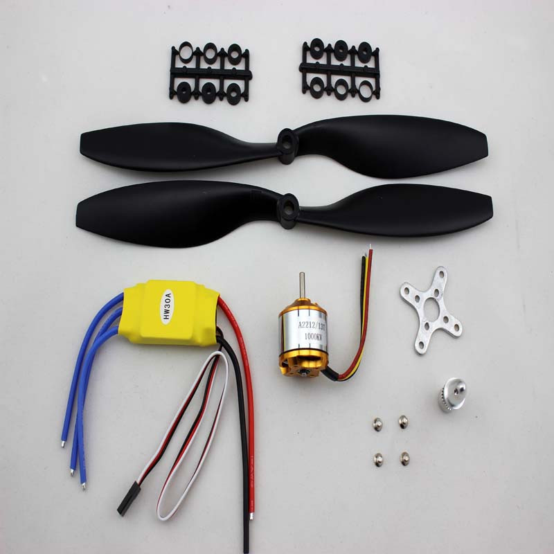4 sets/ lot A2212 1000KV 13T Brushless Motor & 30A Brushless ESC & 1045 Counter Rotating Propeller for FPV 450 550mm Quadcopter 4set lot a2212 1000kv brushless outrunner motor 30a esc 1045 propeller 1 pair quad rotor set for rc aircraft multicopter
