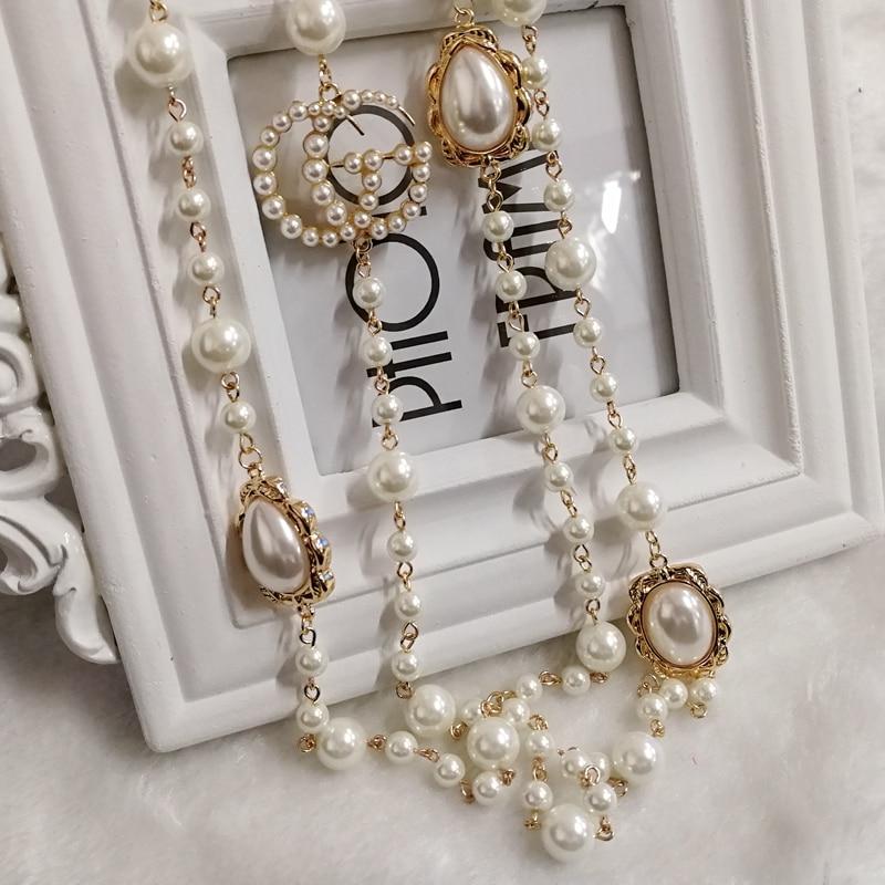 Mimiyagu Luxury Colorful Pearl Pendant Letter Pendant