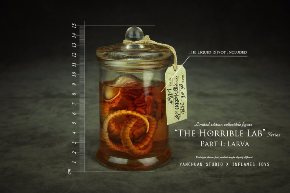 X Inflames Toys The Horrible Lab Series LARVA With <font><b>Test</b></font> Vessel Action Figure Model Toys Collections