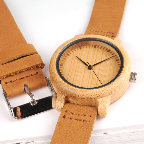 BOBO BIRD Lovers Wood Watches for Women Men Leather Band Bamboo Couple Casual Quartz Watches OEM as Gift Karachi