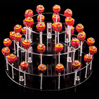 Transhome Dessert Stand 35 Holes Transparent Lollipop Display Stand Birthday Party Supplies Candy Cake Food Display Tools 2019