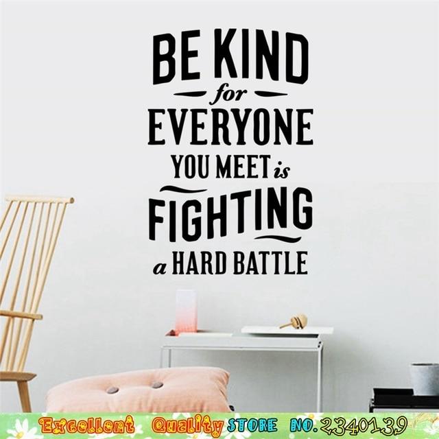 Worden Natura Vechten Battle Quotes Muurstickers Woondecoratie Vinyl