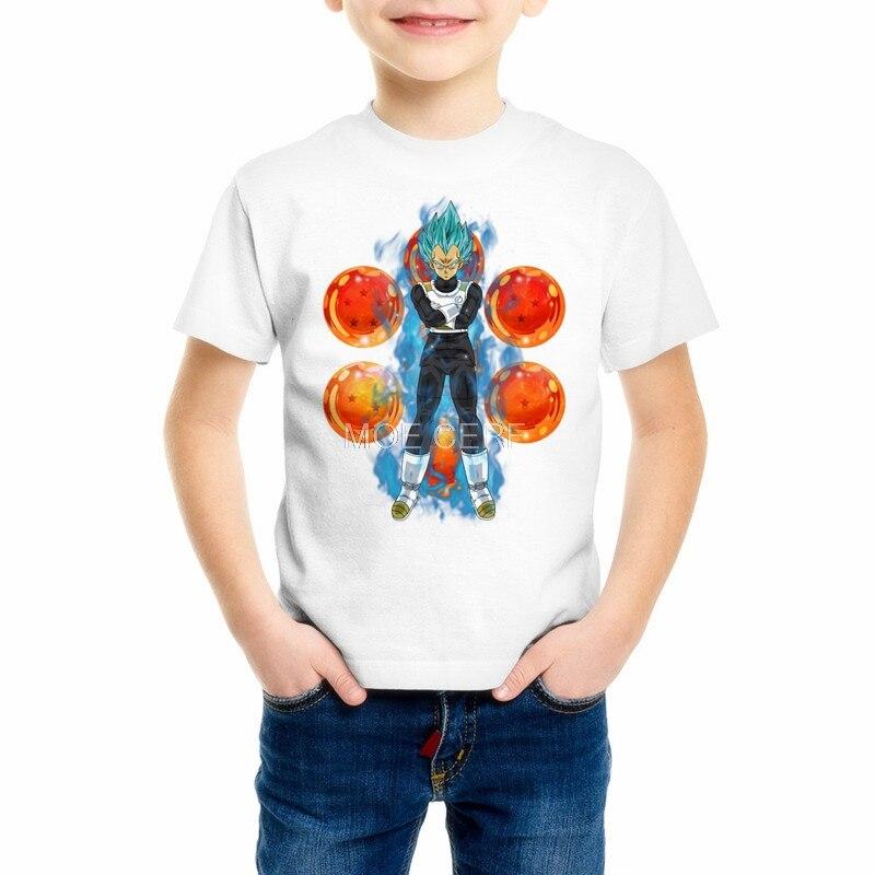 Vegeta T-shirts Son Goku Anime Boys/Girls/Kids/Baby Camiseta Harajuku Tshirt Dragon Ball Printed T shirt Tops Z17-6 женская футболка other 2015 3d loose batwing harajuku tshirt t a50