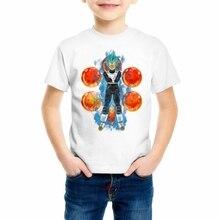 Vegeta T-shirts Son Goku Anime Boys/Girls/Kids/Baby Camiseta Harajuku Tshirt Dragon Ball Printed T shirt Tops Z17-6 harajuku anime dragon ball z dbz 3d print bulma goku flying tshirt men women casual kawaii t shirt boys blue t shirt 5xl clothes