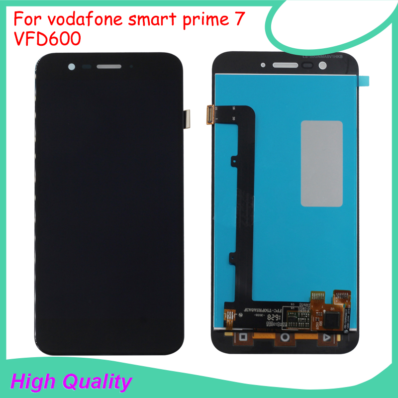 ФОТО Full LCD display For Vodafone Smart Prime 7 VFD600 Touch screen digitizer assembly Black White Color Mobile Phone LCD Display