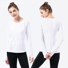 White Sport Yoga T-Shirt Women Gym Sports Fitness Women Sport Top Long Sleeve t shirts O Neck Base Shirt Tee Tops camiseta femin цена и фото