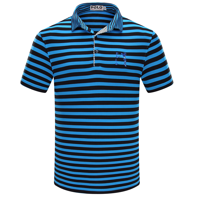 POLO GOLF Clothing Men Stripe Cotton Short Polo Shirt Summer High Quality Male Uniform Sportwear Fashion Clothes Roupas DeGolfe цена 2016