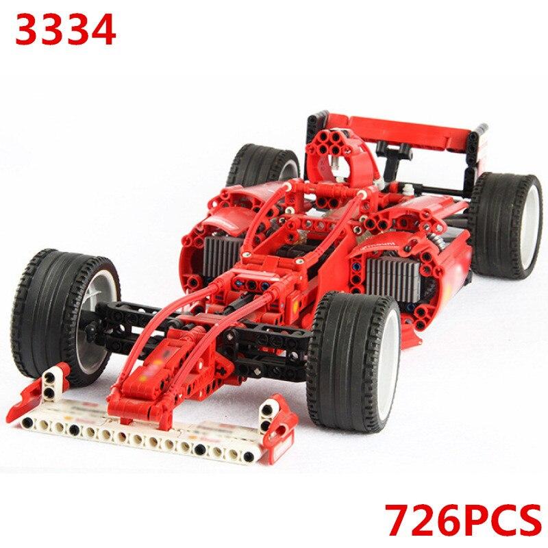 8386 Ferrarii F1 Racer 1 10 Car Technic Model Building Blocks Bricks Kids DIY Gifts Toys