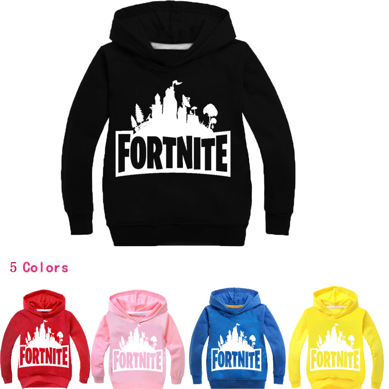 5 Colors Fortnite Hoodies Swearshirts Casual Long Sleeve Tshirt Outwear Streetwear Pullover 3-14T Boys Girls Clothing Tracksuit