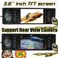 2015 novo 3.6 ''polegadas tela TFT HD jogador rádio do carro 12 V do carro mp5 áudio estéreo 1080 P SD/USB/AUX IN one din Apoiar câmara de vista traseira câmera