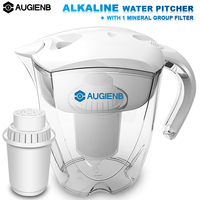 AUGIENB Alkaline Water Pitcher Ionizer Long Life Filters Water Filter Purifier Filtration System High pH Alkalizer 3.5L