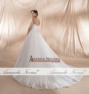 Image 5 - גלימת דה soiree לונג 2020 כבוי כתף רצועות אונליין חתונה שמלות חדש אמיתי תמונות