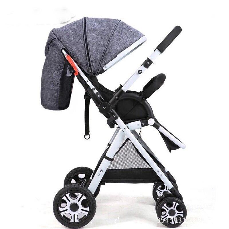 Leggero Bidirezionale Bambino Passeggino Pieghevole Auto Ombrello Può Sedersi Può Mentire Ultra Luce Portatile in Aereo Chidren Carrozzina - 4