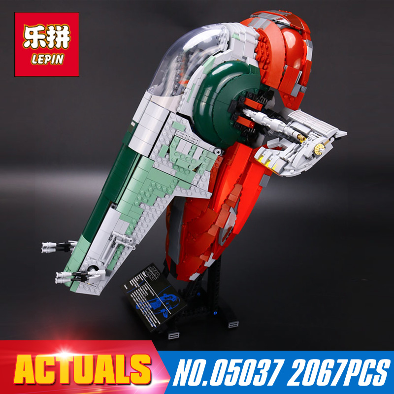 2067Pcs 05037 Lepin Star Wars Slave Model Building Blocks Kits Bricks Compatible Educational Children Toys Gift With 75060 lepin 16014 1230pcs space shuttle expedition model building kits set blocks bricks compatible with lego gift kid children toy