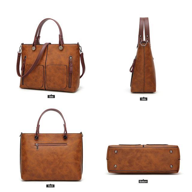 Tinkin Vintage   Shoulder Bag Female Causal Totes for Daily Shopping  3