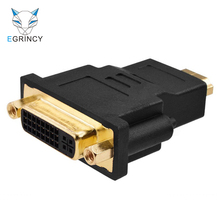 EGRINCY Male HDMI To Female DVI 24+5 Adapter Gold Plated DVI I To HDMI Converter Adaptor HD 1080P For HDTV LCD PS3 PC Projector