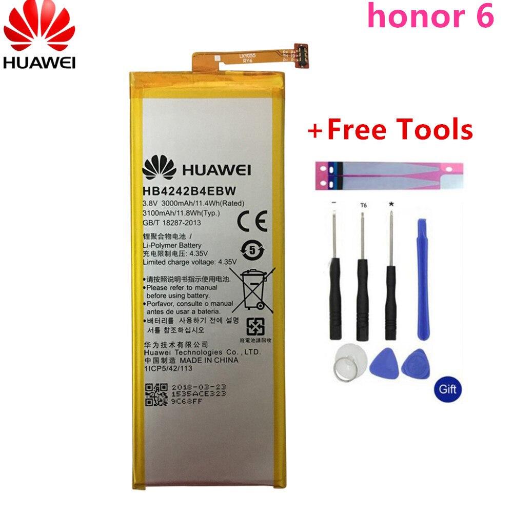Original For Huawei Battery For Huawei Honor 4X Honor 6 Honor Che2-l11 H60-L01 H60-L02 H60-L11 H60-L04 HB4242B4EBW 3000mAh