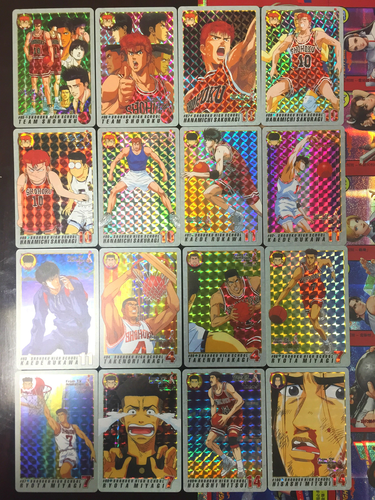 46pcs/set Slam Dunk Toys The Third Bomb Is Full Flash Hobbies Hobby Collectibles Game Collection Anime Cards