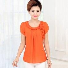 NIFULLAN новая одежда для мамы, Летние шифоновые рубашки для женщин, модные топы с коротким рукавом размера плюс, плиссированная Свободная блузка Blusa Feminina