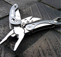 Hot Sale Camping EDC Gear Equipment Outdoor Clip Pliers Multi-purpose Mini Tool Keychain 9E006 Survival Kit Supervivencia