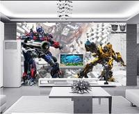 Custom 3D murals,3D stereo robot papel de parede, living room sofa TV wall children bedroom wall paper