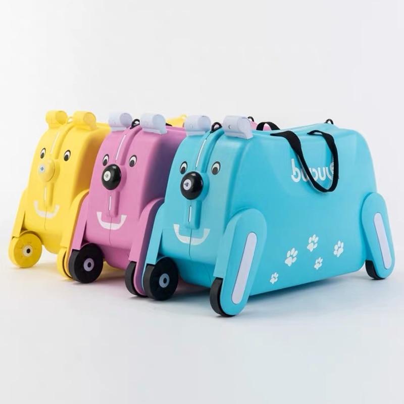 Diplomatisch Kinder Kreative Tier Locker Baby Spielzeug Box Roll Gepäck Zugstange Box Kann Sitzen Zu Fahrt Reisetasche Trolley Koffer Kinder Geschenk