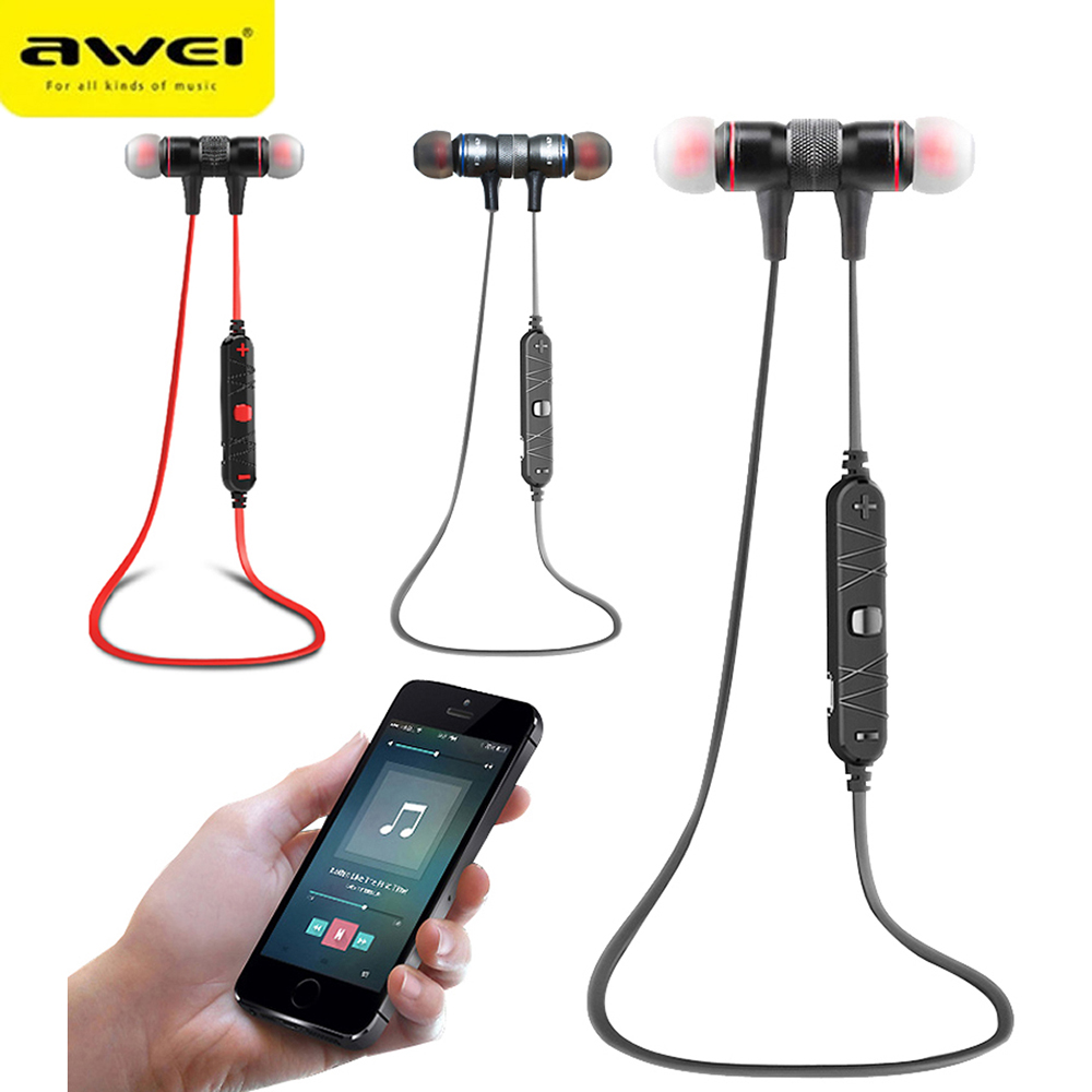 Awei A920BL Stereo Sport Auriculares Bluetooth Headset Earphone For In Ear Phone Bud Cordless Wireless Headphone Earbud Earpiece awei headset headphone in ear earphone for your in ear phone bud iphone samsung player smartphone earpiece earbud microphone mic