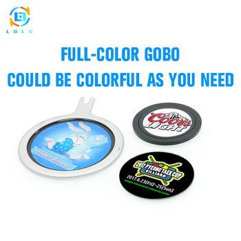 Hot Sale Low Price Professional Custom Glass Gobo CE and RoHS Projector Use High Definition Full Colors Custom Glass Gobo