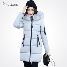 Brieuces 2017 New Winter Women Jacket Collection Brand Fashion Epaulet Thick Hooded Parkas Coats Plus Size 3XL