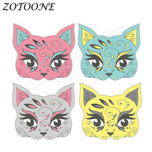 ZOTOONE Iron on Transfers Patch for Clothing Thermo Stickers Animal Cat Patches Applique Clothes Heat E