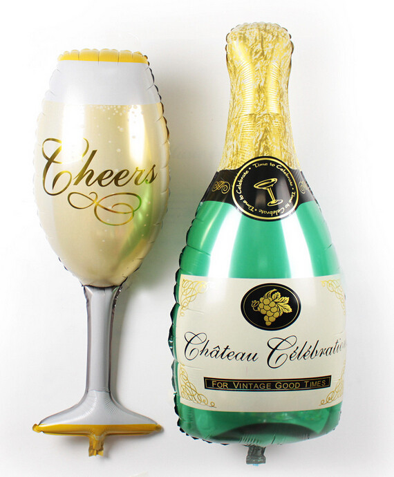 Champagne Wedding Bubble Favors