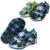 Super quality1pair pu crianças menino sandálias de verão shoes comprimento interno 12.8-16 cm, as crianças/filhos som shoes