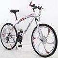 Регулируемый скоростной горный велосипед 21 скорость 26 дюймов двойной амортизационный взрослый внедорожный велосипед
