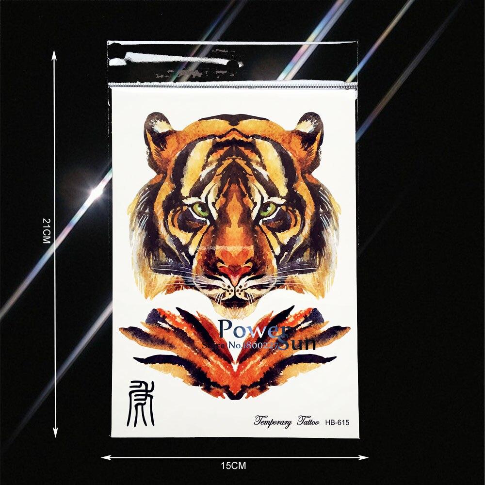 Creative 3D DIY Tiger King Print Waterproof Temporary Tattoo Fake Flash Tattoo Sticker PHB615 Men Body Arm Painting Tatoo Sleeve