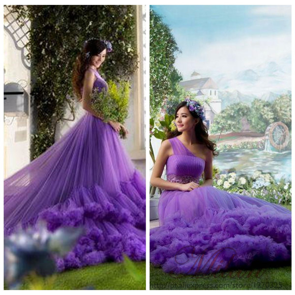 purple beach wedding dress